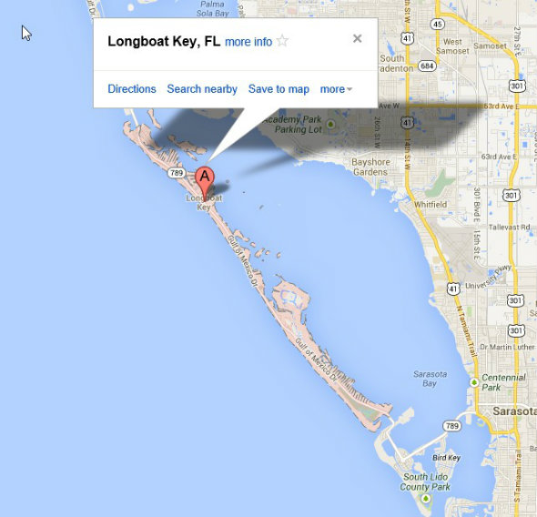Map of Longboat Key